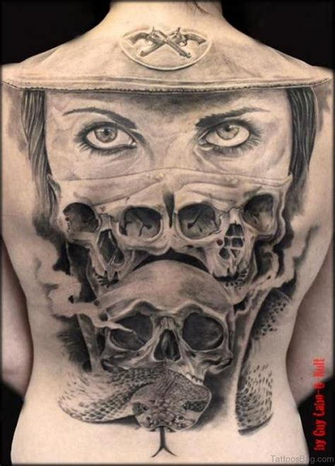 cool skull tattoos 80 cool skull tattoos for back