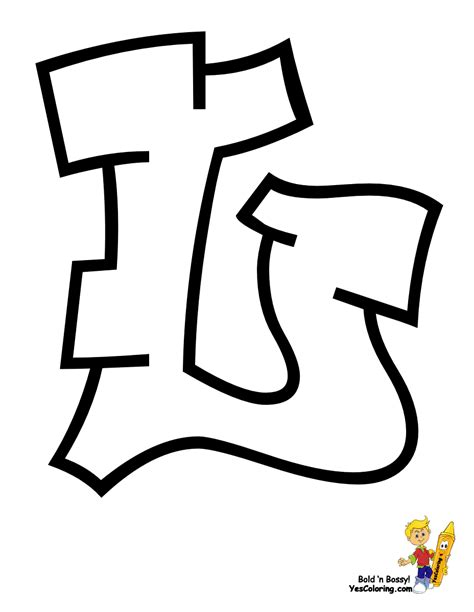 Cool Graffiti Abc Coloring Pages Numbers Free Kids Colouring Pages Free L