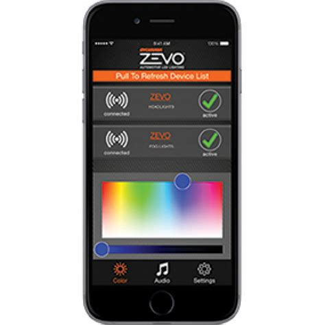 app controlled car lights zevo connect color changing app controlled beats to