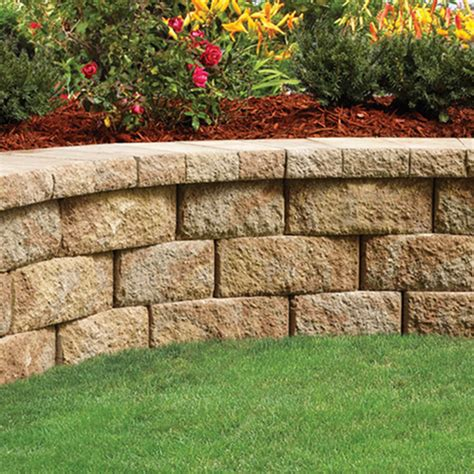 landscaping retaining wall blocks lowes images