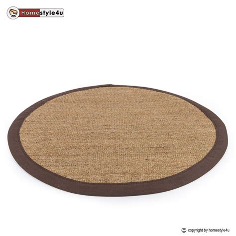 sisal teppich bord 252 renteppich naturfaser sisalteppich - Teppich Rund Braun Beige