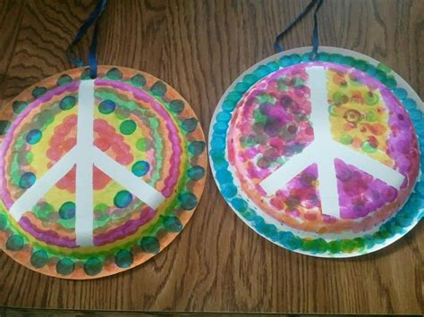 peace crafts for paper plate peace signs
