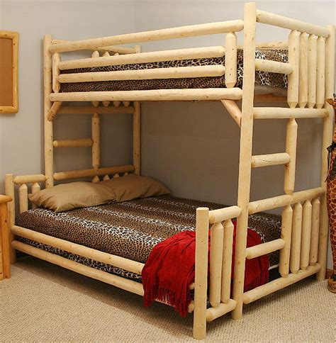 Unique bunk bed double twin bunk bed woodworking project plans