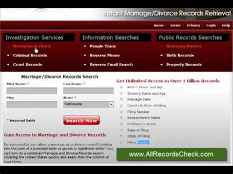 Free Divorce Records Lookup How To Do Free Marriage Divorce Records Search