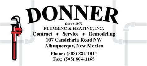 Plumbing Supply Open Sunday by Donner Plumbing Heating Inc Albuquerque New Mexico Nm