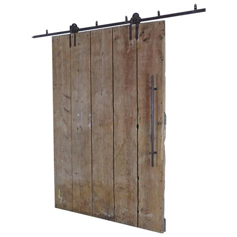 Barn Door On Track Wooden Barn Door On Tracks At 1stdibs