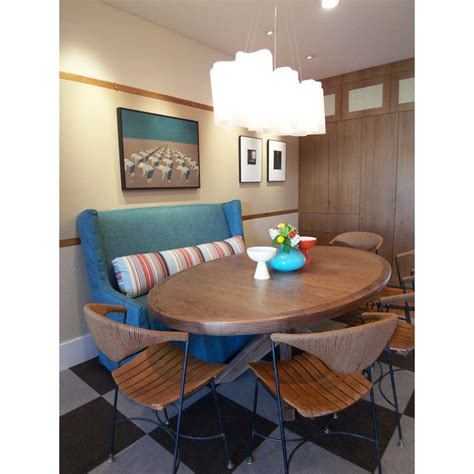 kitchen table with settee inspired settee loveseat in dining room contemporary with