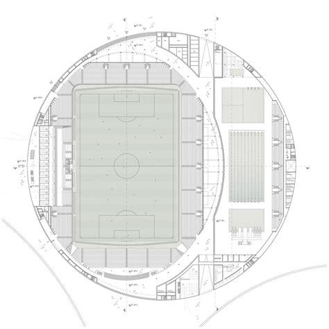 Football Stadium Floor Plan by Gmp Architekten Sports Complex Urban Re Design In Lausanne