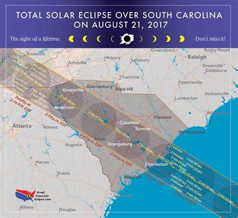 map of south carolina usa south carolina eclipse total solar eclipse of aug 21 2017