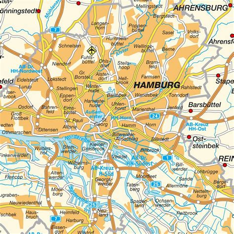Home Design Blog Names by Map Of The Greater Hamburg Area State Of Hamburg Germany