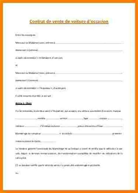 Exemple De Lettre Vente Auto 9 Contrat De Vente Voiture Lettre Officielle