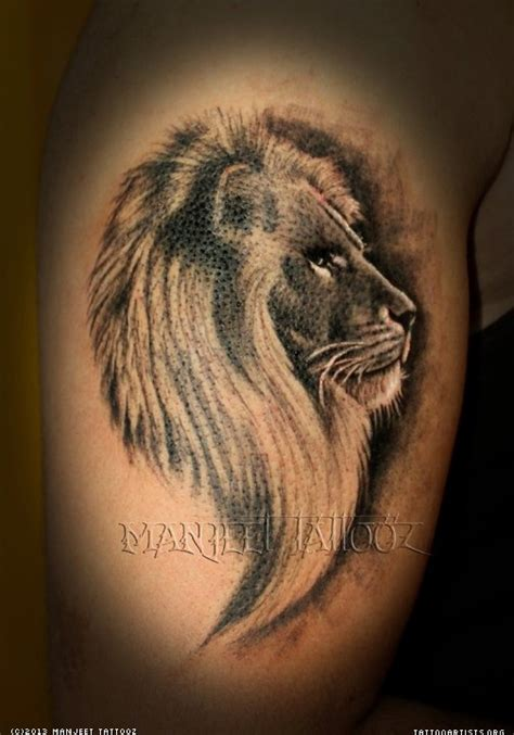 3d lion tattoo pin 3d on