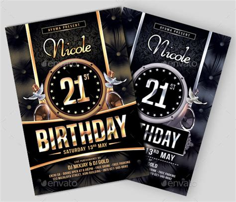 26 Birthday Flyer Templates Sle Exle Format Download Free Premium Templates 21st Birthday Template