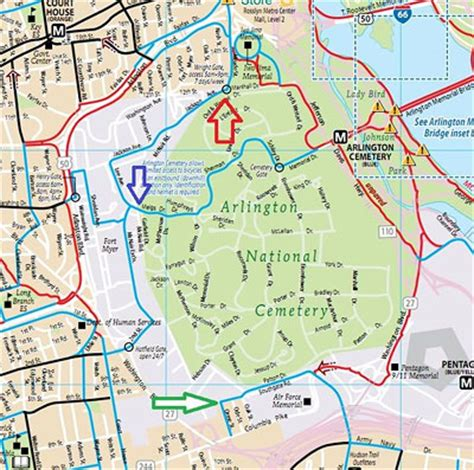 arlington national cemetery map arlington cemetery map map3