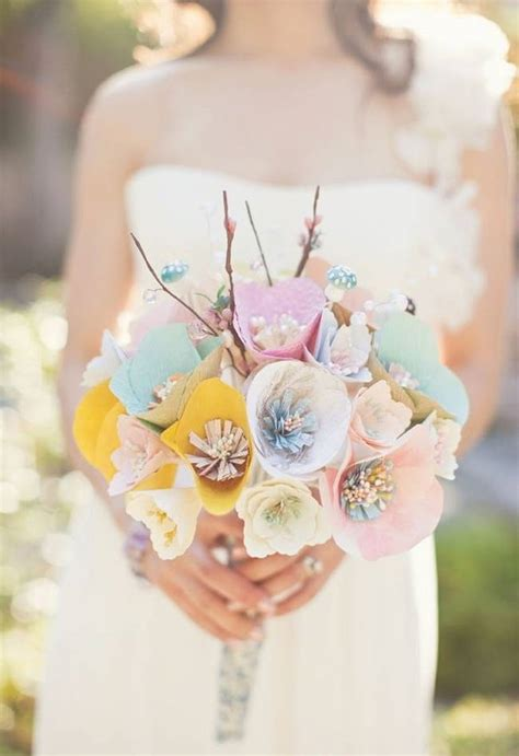 How To Make Paper Flower Bouquets For Weddings - memorable wedding using paper flowers in your wedding theme
