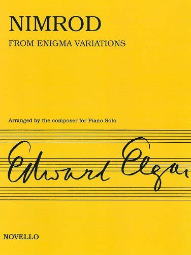 enigma variations a novel books nimrod from enigma variations op 36 arranged for piano