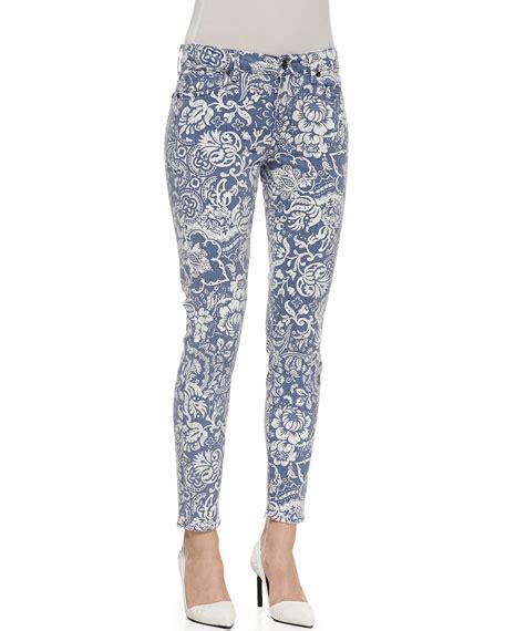 floral pattern skinny jeans cj by cookie johnson wisdom floral pattern skinny ankle