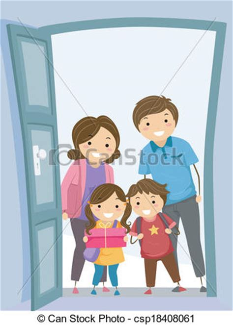 Mother Daughter House Plans clip art vector of family visit illustration of a family