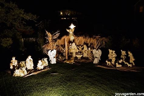 create  beautiful outdoor nativity scene joy
