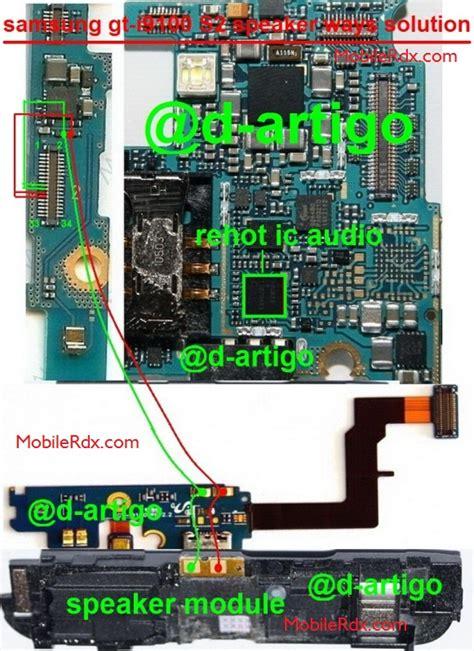 Ic Audio Samsung S2 I9100 Ymu823 samsung galaxy s2 i9100 speaker ways solution jumper