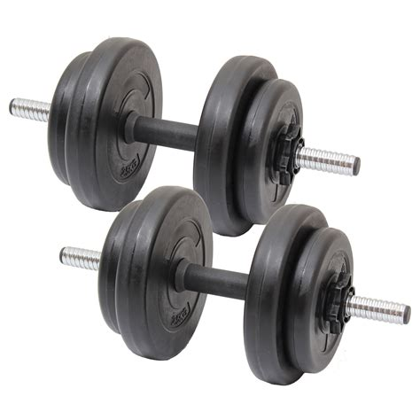 15kg dumbbell free weights set home workout