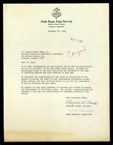 letter from alpha kappa alpha sorority to mlk regarding