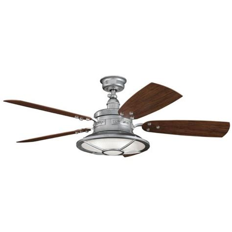 Nautical Ceiling Fans With Lights Kichler Ceiling Fan With Light Kit In Galvanized Steel Finish Ceiling Fan Lights Ceiling Fans