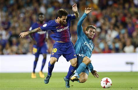 barcelona real madrid real madrid defeat neymar less barcelona in spanish super