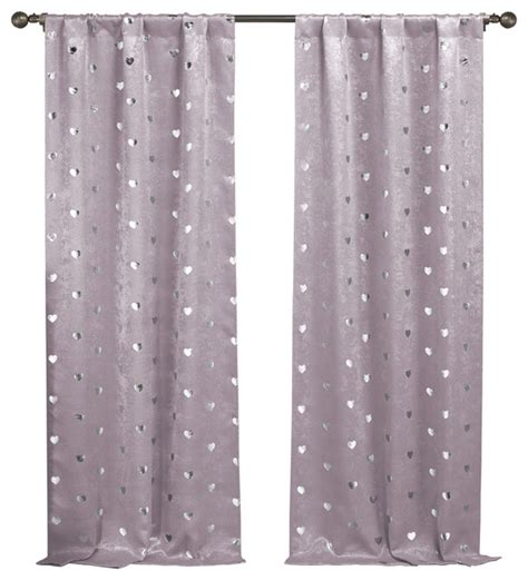 Lavender Window Curtains Kellie Lala Bash Metallic Blackout Pair Panel Modern Curtains By Duck River Textile