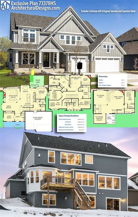 octagonal sunroom house plan hunters 1399 best architectural designs editor s picks images on