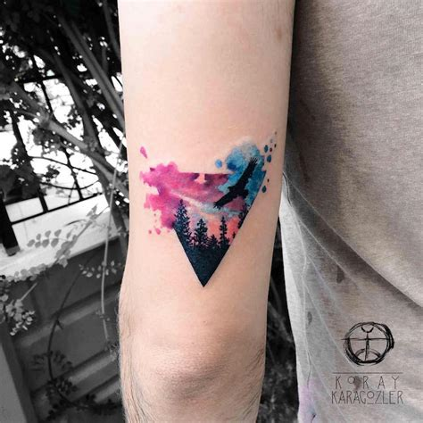 watercolor triangle tattoos watercolor tattoos that beautifully transform skin into a