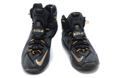 lebron shoes sale cheap nike lebron 12 black gold basketball shoes for sale