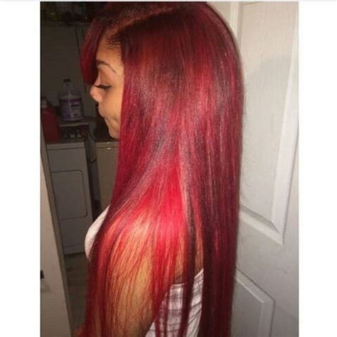 straight red ends sew in hairstyles red sew in www pixshark com images galleries with a bite