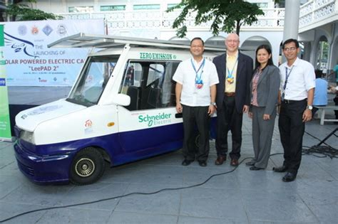 schneider electric solar l concept solar car uses schneider electric s solar charge