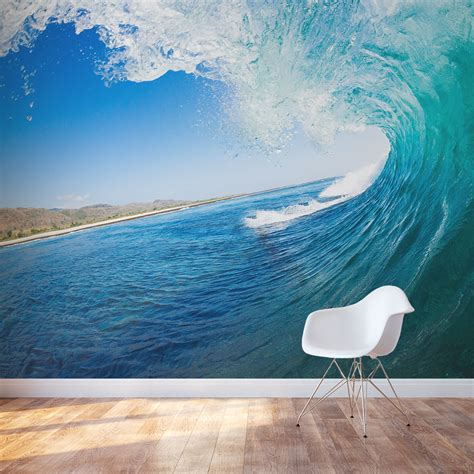 wave wallpaper for walls ocean wave wall mural ocean wallpaper mural wallums