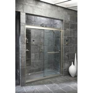 kohler frameless sliding shower doors fluence sliding shower door 75 quot h x 56 5 8 59 5 8 quot w