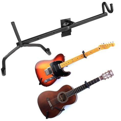 Wall Stand Guitar Gantung Hanger Gitar Bass Ukulele Acoustic Electric adjustable electric guitar wall hanger slatwall horizontal