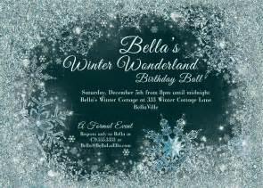 winter winter snowflake invitation