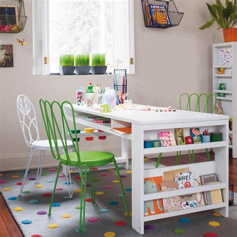 kids art table with storage colorful rug ideas for kids rooms