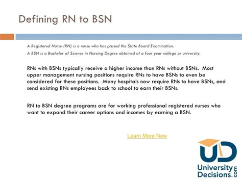 1 Year Rn To Bsn Program by Rn To Bsn Degree Programs