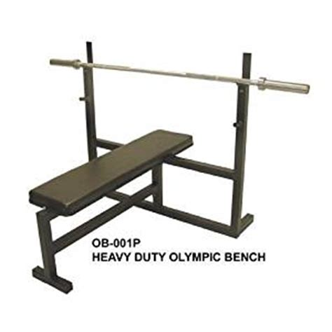 amazon com olympic bench press w 7 bar 255 lb plate