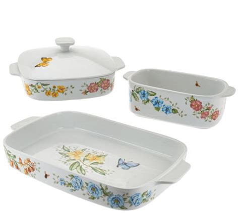 Oven Baking Pan Butterfly lenox 4pc butterfly meadow oven to table bakeware set page 1 qvc