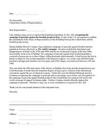 student congress resolution template sle letter to a u s representative in support of h res