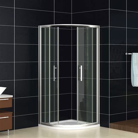 Shower Doors And Trays Quadrant Shower Enclosure Walk In Corner Cubicle Glass Screen Door Tray Waste Ebay
