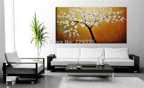 4 piece frameless colourful leaf trees canvas painting canvas paintings for living room