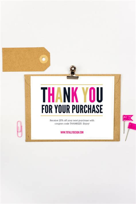 Thank You Letter Purchase Order Received thank you for your purchase printable instant