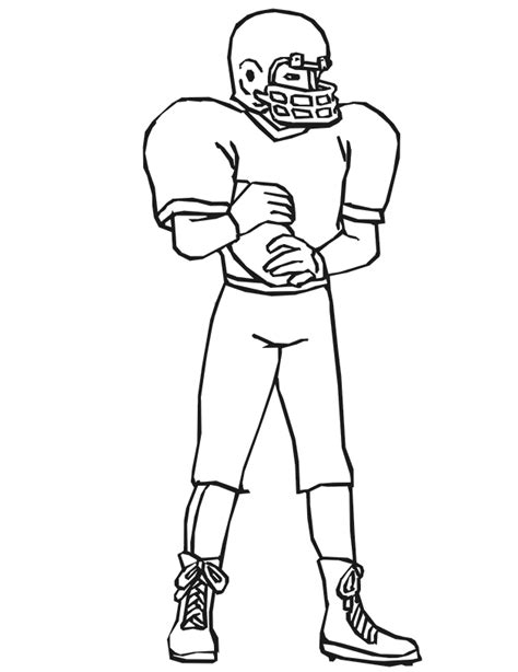 coloring page of football player coloring pages football player coloring home