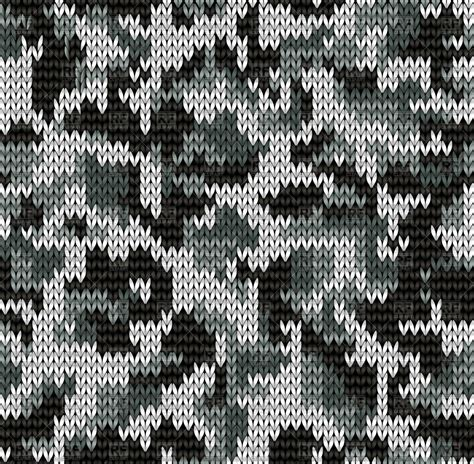 black and white knit pattern knitting seamless texture with digital camouflage pattern
