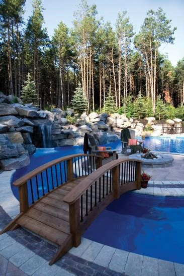 umbriano pool deck  fire pit  waterfall