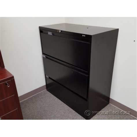 global lateral file cabinet global black 36 quot 3 drawer lateral file cabinet locking allsold ca buy sell used office